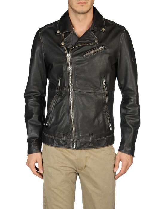 DIESEL LAPISMIUM Leather jackets U e