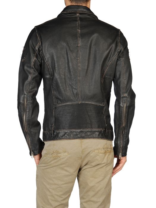 DIESEL LAPISMIUM Leather jackets U r