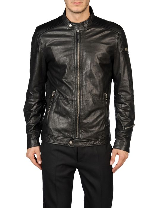 DIESEL LOPHOPHORA Leather jackets U e