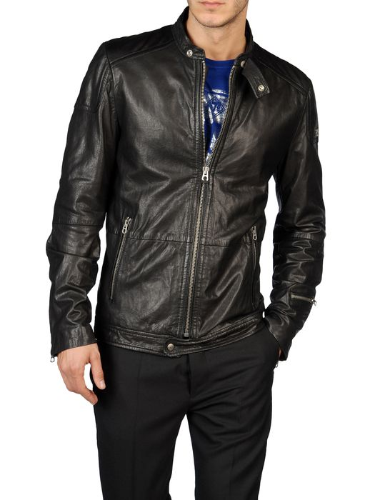 DIESEL LOPHOPHORA Leather jackets U f