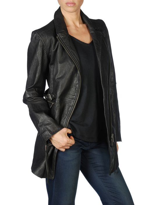 DIESEL L-ELIGOS Leather jackets D f