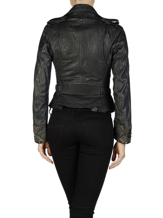 DIESEL L-PREMISE-D Leather jackets D r