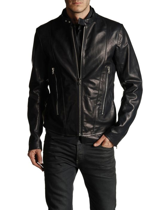 DIESEL BLACK GOLD LABRASIV Leather jackets U e