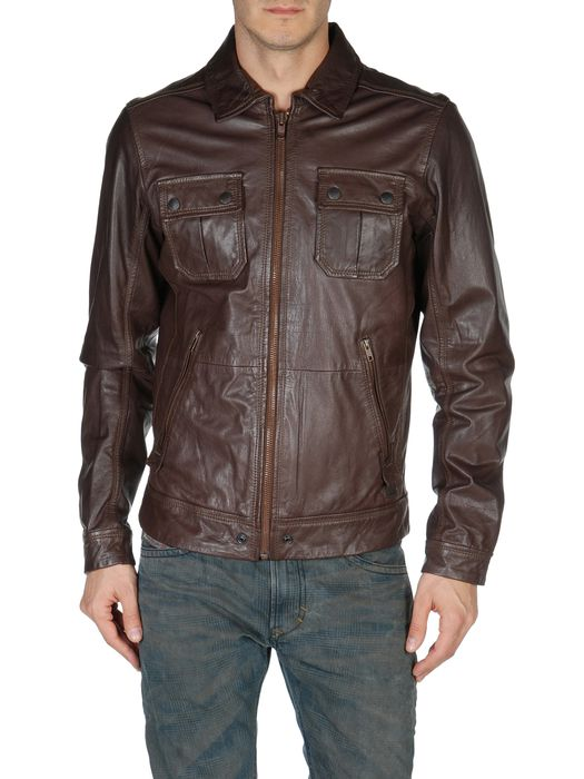 DIESEL LORDID 00WNY Leather jackets U e