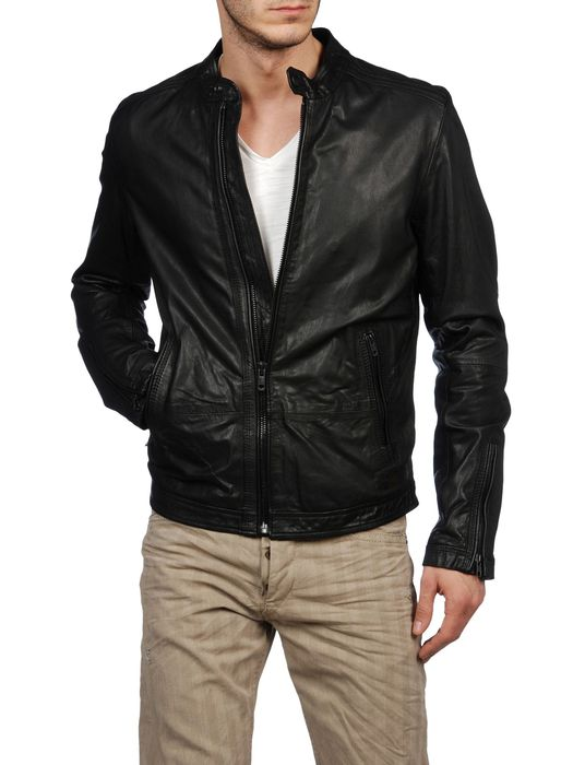 DIESEL LAGNUM Leather jackets U f