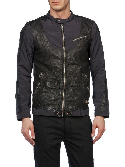 DIESEL LAREIA Leather jackets U e