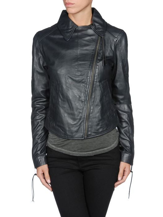 DIESEL L-SIENNA-C Leather jackets D e