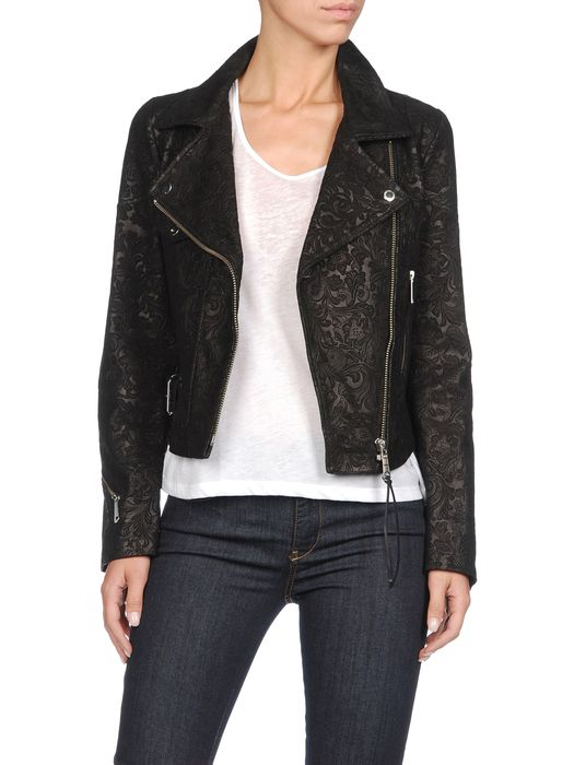 DIESEL L-KELE-A Leather jackets D f