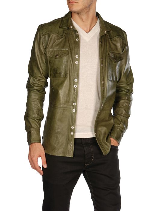 DIESEL LOCHABRE Leather jackets U f