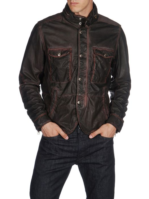 DIESEL L-BHAL Leather jackets U f