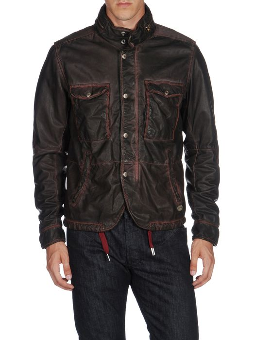 DIESEL L-BHAL Leather jackets U e