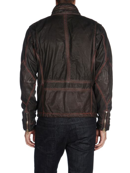 DIESEL L-BHAL Leather jackets U r