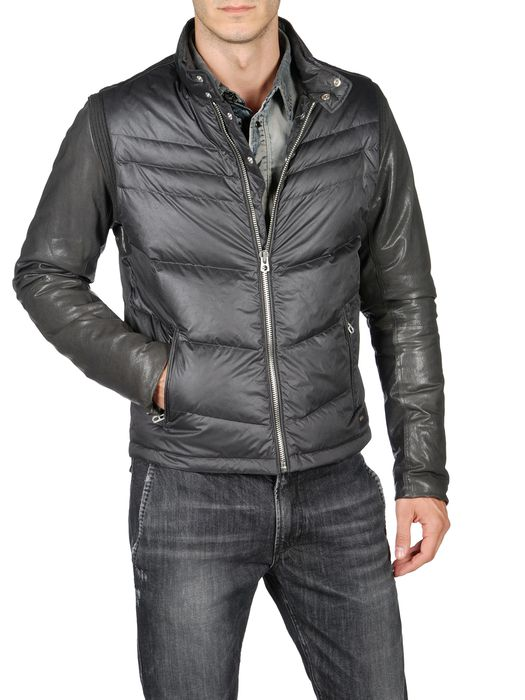 DIESEL W-KEN Leather jackets U f