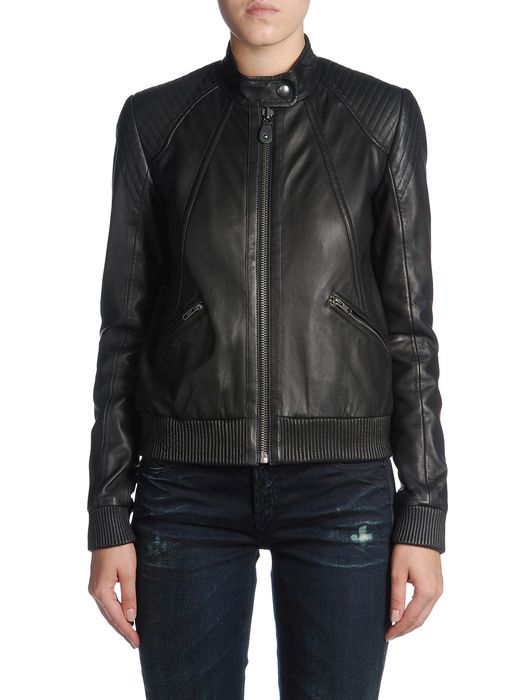 DIESEL BLACK GOLD LAYMAK Leather jackets D e