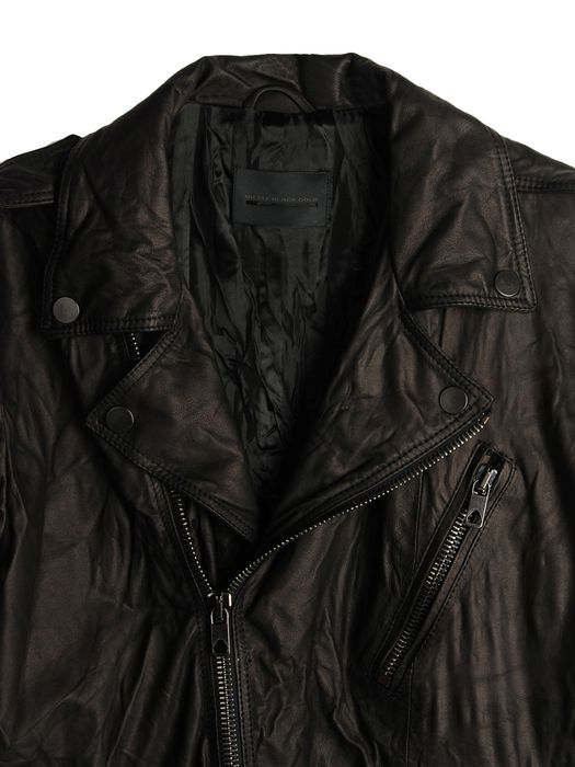 DIESEL BLACK GOLD LERFECTO Leather jackets U d