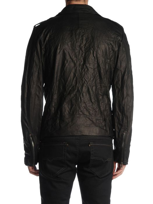 DIESEL BLACK GOLD LERFECTO Leather jackets U r