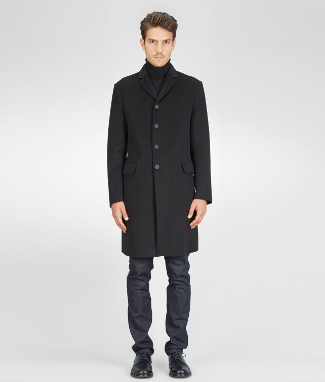 BOTTEGA VENETA COAT IN NERO DOUBLE CASHMERE Coat or Jacket U fp