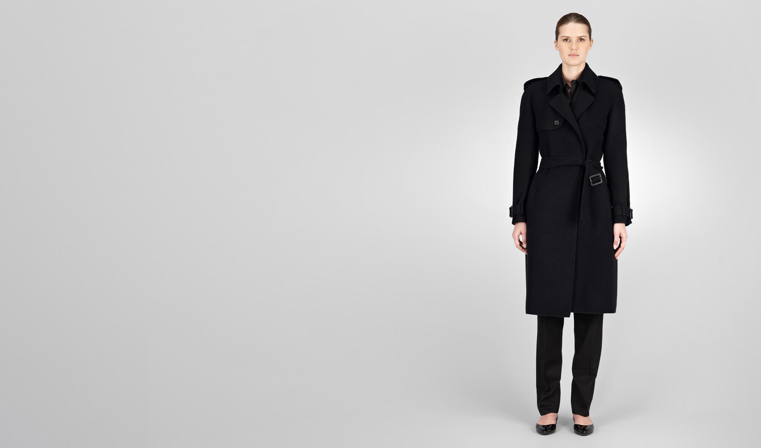 BOTTEGA VENETA Coat or Jacket D TRENCH IN NERO DOUBLE CASHMERE pl