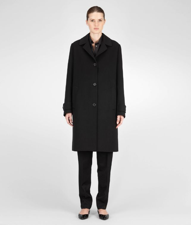 BOTTEGA VENETA Nero Cashmere Coat Coat or Jacket D fp