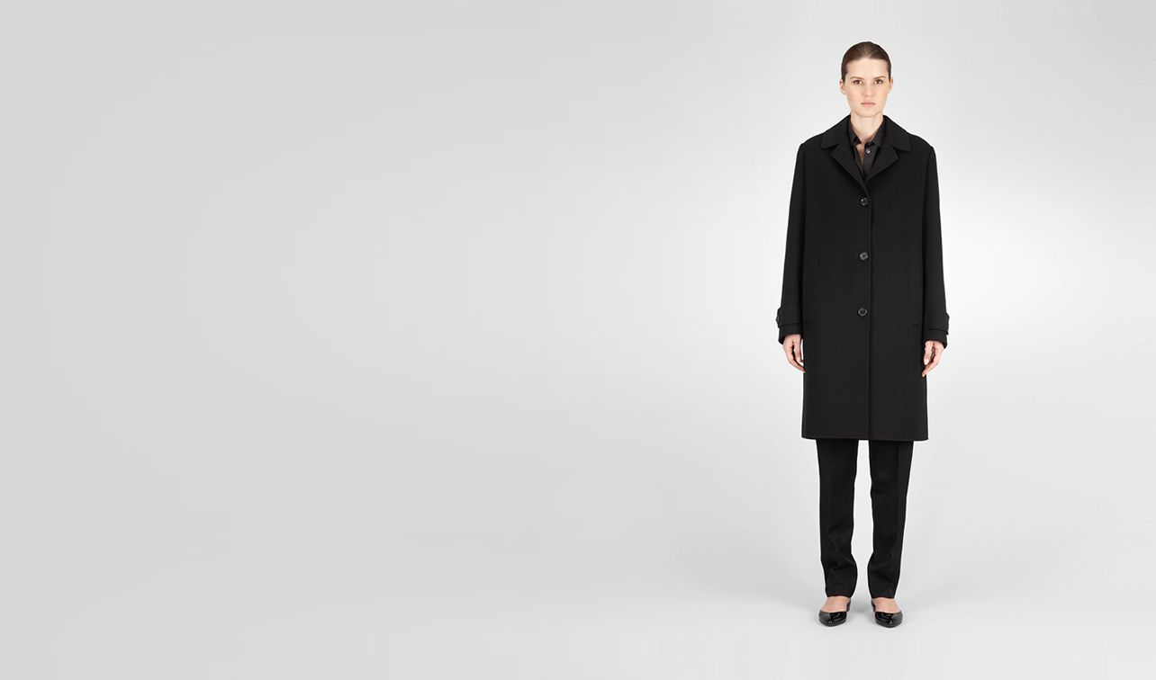 BOTTEGA VENETA Coat or Jacket D Nero Cashmere Coat pl