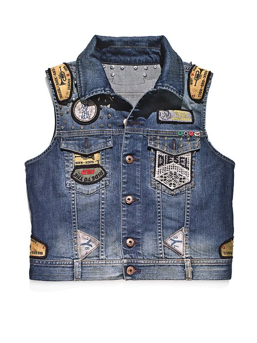 DIESEL REBOOT-DENIM-VEST-FL Jackets D f
