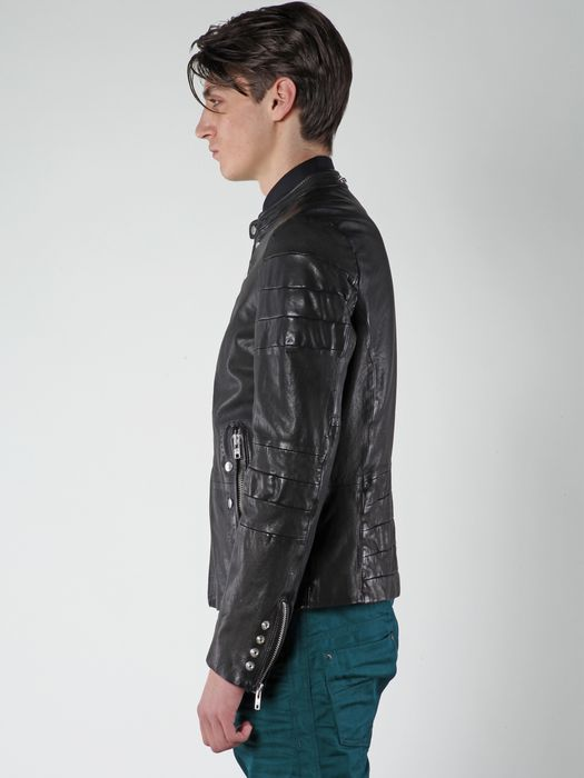 DIESEL L-AYME Leather jackets U a