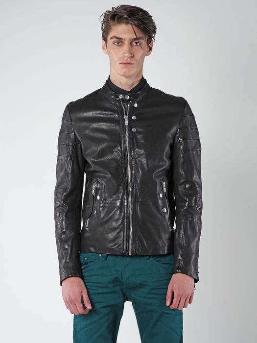 DIESEL L-AYME Leather jackets U f