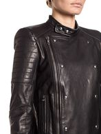 DIESEL BLACK GOLD LORDIN Leather jackets D a