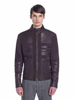 DIESEL BLACK GOLD LUMONDY Leather jackets U f