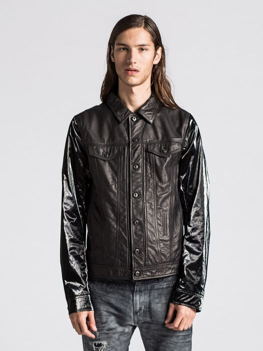 DIESEL L-ELSHAR-V Leather jackets U f