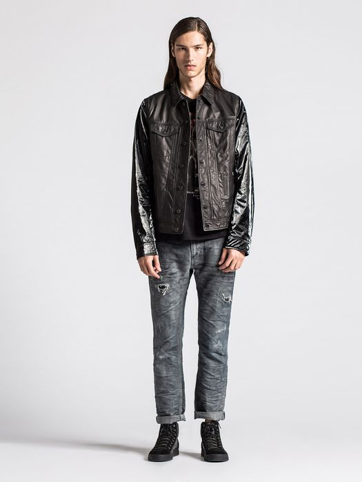 DIESEL L-ELSHAR-V Leather jackets U r
