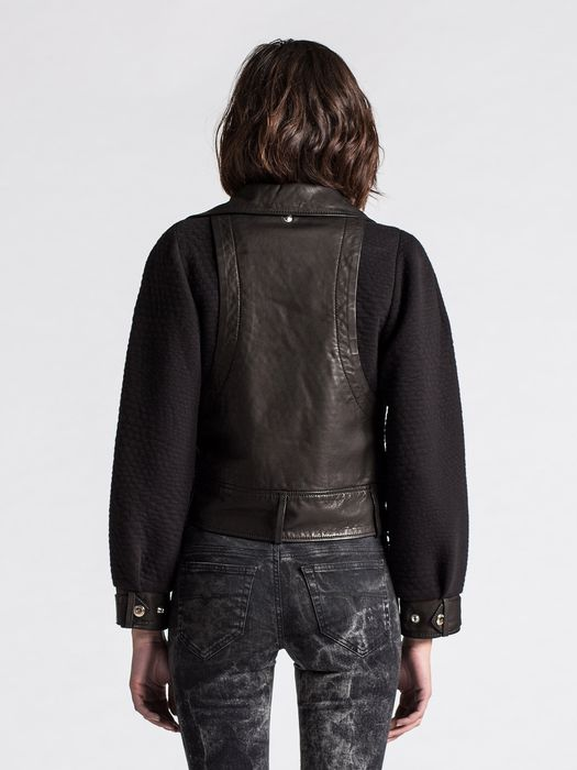DIESEL L-ACRAB Leather jackets D e