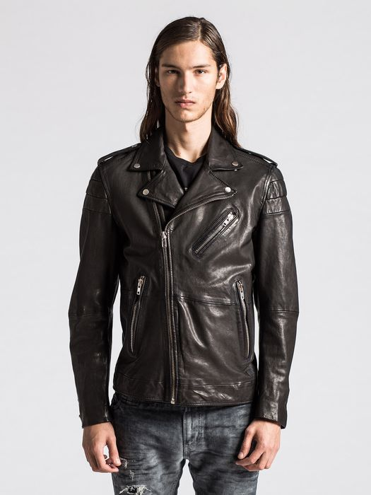 DIESEL L-ILLIANNE Leather jackets U f