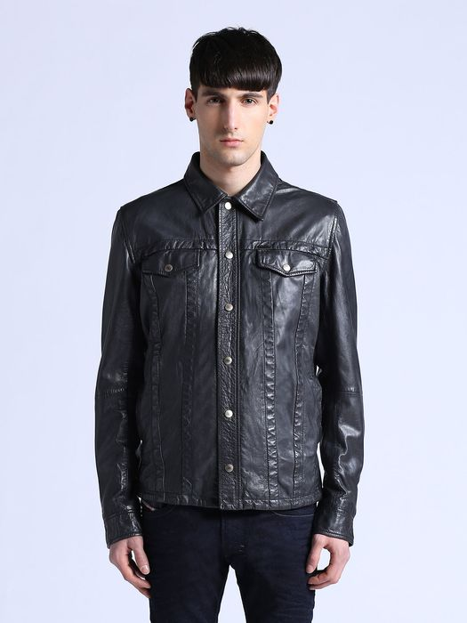 DIESEL L-FOCKE Leather jackets U f