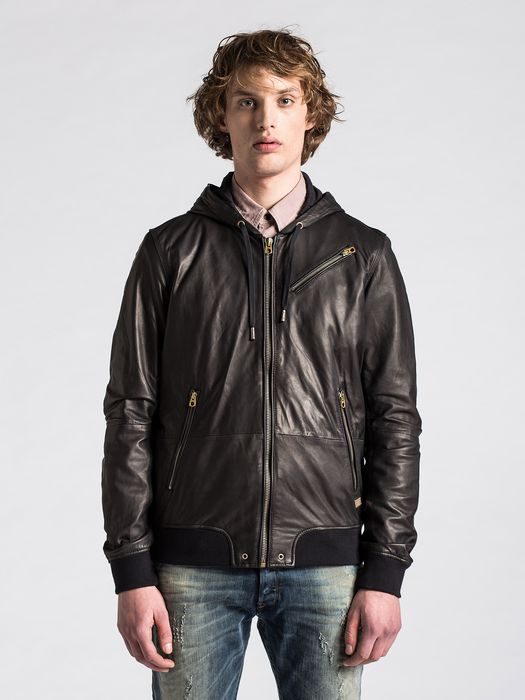 DIESEL L-HASSO Leather jackets U f