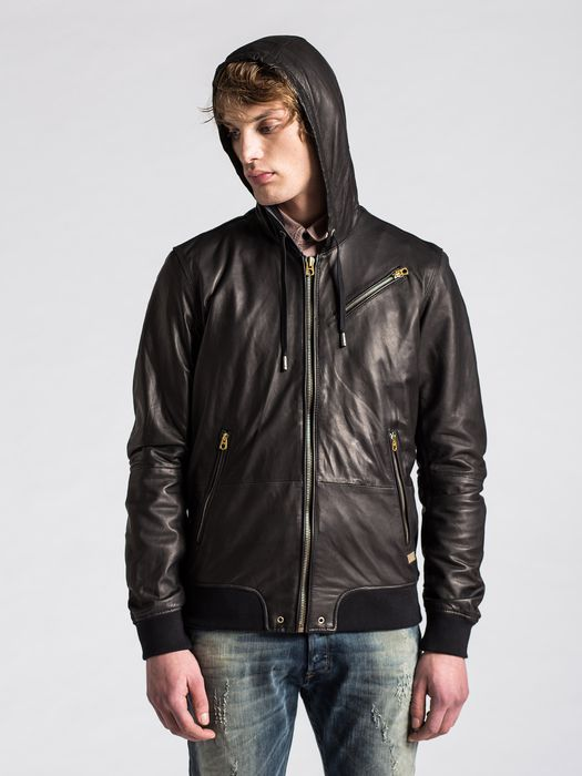 DIESEL L-HASSO Leather jackets U a