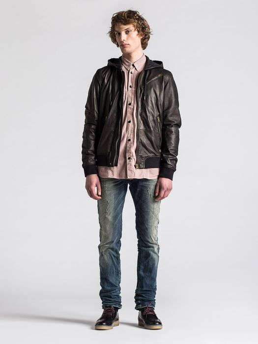 DIESEL L-HASSO Leather jackets U r