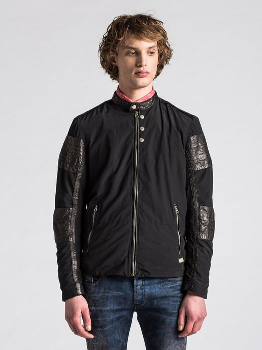 DIESEL J-ARTHUR-L Leather jackets U f
