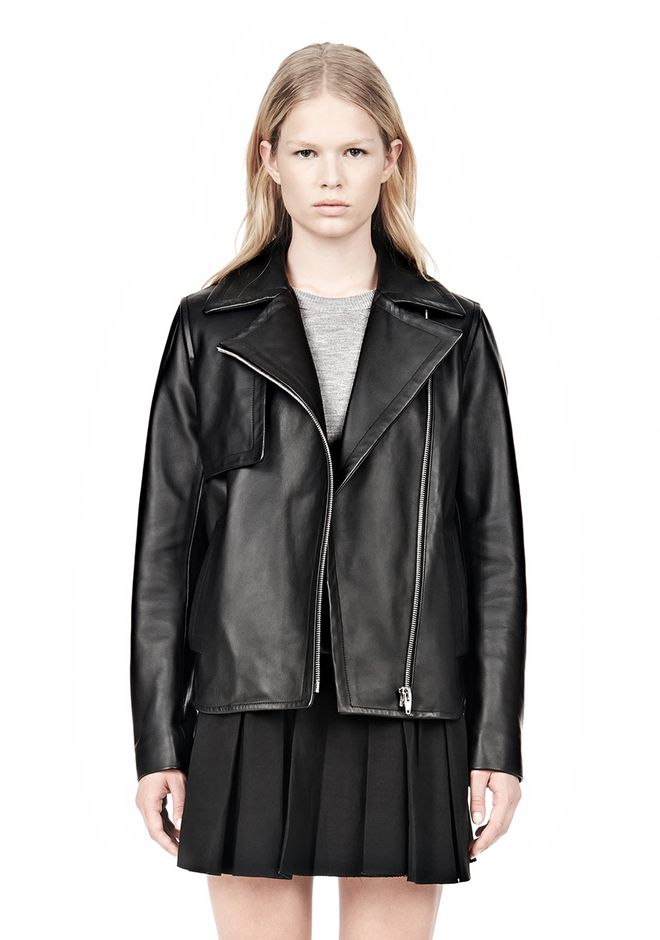 ALEXANDER WANG BOXY LEATHER JACKET Jacket Adult 12_n_e