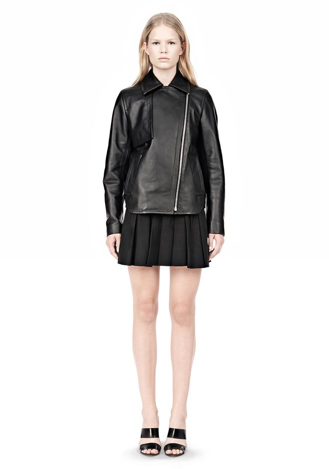 ALEXANDER WANG BOXY LEATHER JACKET Jacket Adult 12_n_f