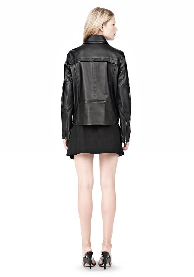 ALEXANDER WANG BOXY LEATHER JACKET Jacket Adult 12_n_r