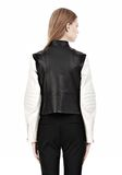 ALEXANDER WANG ZIP UP MOTO JACKET WITH CONTRAST SLEEVES Jacket Adult 8_n_d