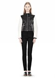 ALEXANDER WANG ZIP UP MOTO JACKET WITH CONTRAST SLEEVES Jacket Adult 8_n_f