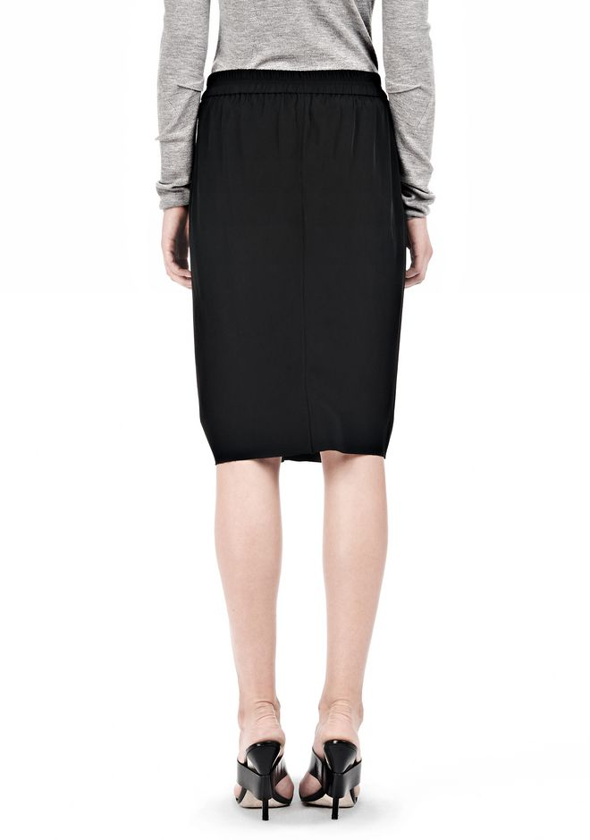 ALEXANDER WANG VACUUM PRESSED IRREGULAR PLEAT FRONT SKIRT SKIRT Adult 12_n_a