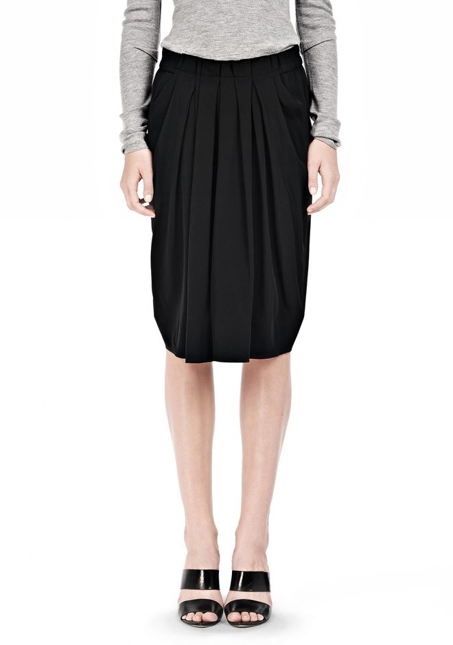 ALEXANDER WANG VACUUM PRESSED IRREGULAR PLEAT FRONT SKIRT SKIRT Adult 12_n_e