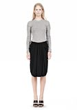 ALEXANDER WANG VACUUM PRESSED IRREGULAR PLEAT FRONT SKIRT SKIRT Adult 8_n_f