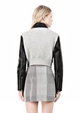 ALEXANDER WANG EXCLUSIVE BONDED ZIP FRONT JACKET WITH KNIT BACK Jacket Adult 8_n_d