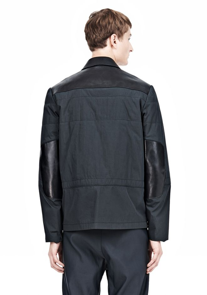 ALEXANDER WANG PADDED HUNTER JACKET WITH BONDED LEATHER COMBO Jacket Adult 12_n_d