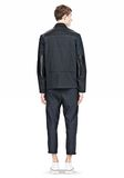 ALEXANDER WANG PADDED HUNTER JACKET WITH BONDED LEATHER COMBO Jacket Adult 8_n_r