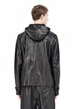 T by ALEXANDER WANG WASHED LEATHER HOODED JACKET Jacket Adult 8_n_d